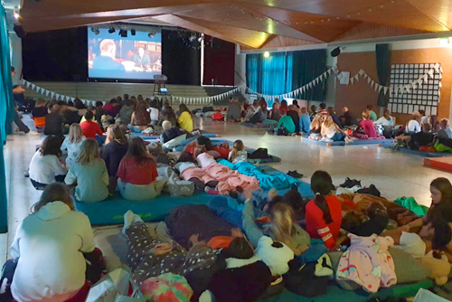 Kinovorstellung in der Christian-Hülsmeyer-Schule, Barnstorf