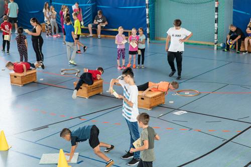 Sportunterricht, Christian-Hülsmeyer-Schule, Barnstorf