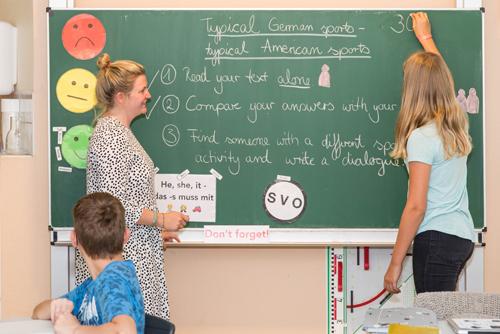 Sprachunterricht, Christian-Hülsmeyer-Schule, Barnstorf